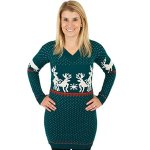 Humping Reindeer Naughty Holiday Sweater Dress