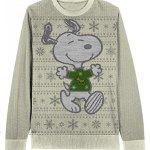 Snoopy with Snowflakes Christmas Sweater