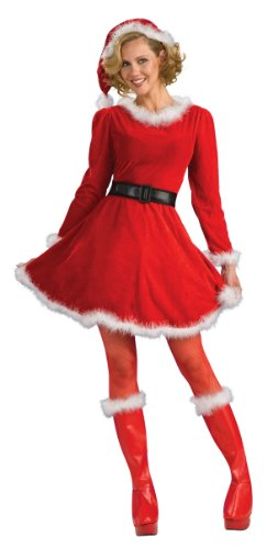 Classic mrs santa claus dress ugly sweaters