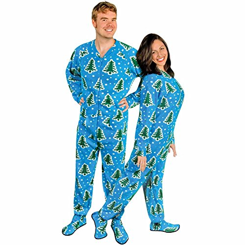 Adult Christmas Onesie Pajamas With Butt Flap Ugly