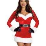 Naughty Miss Santa Christmas Dress (5 piece set)