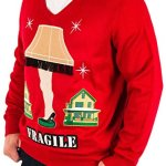 Men's A Christmas Story Fragile Leg Lamp Ugly Christmas Sweater