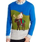Shirtless Santa Ride Ugly Christmas Sweater