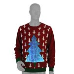 Amazing 7 Color LED Light Up Christmas Tree Sweater - Unisex