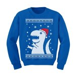 Big T-Rex Santa Ugly Christmas Sweater