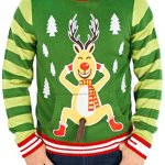 Frisky Rudolph Naughty Sweater