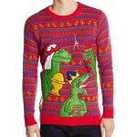 Three Dinosaur Kings Ugly Christmas Sweater