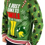 Elf Smiling's My Favorite Ugly Christmas Sweater