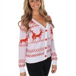 Naughty Reindeers Cardigan Christmas Sweater
