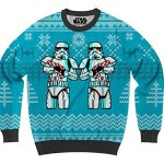 Stormtroopers with Candy Canes Unisex Christmas Sweater