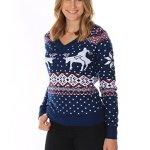 Naughty Reindeer Climax Christmas Sweater for Women