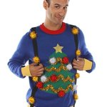 Christmas Tree Sweater with Suspenders