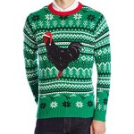 Black Rooster Ugly Christmas Sweater