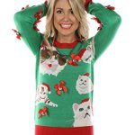 Crazy Cat Lady Christmas Sweater