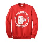 "Mike Tyson ""Merry Crithmith"" Ugly Christmas Sweater Design Sweatshirt"