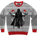 Darth Vader and Stormtrooper Elves Christmas Sweater