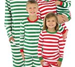 Family Matching Christmas Red or Green Striped Pajamas PJs Sets