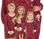 Family Matching Red Plaid Flannel Pajamas PJs Sets for the Family