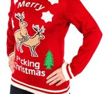 Merry F*cking Christmas Ugly Sweater for Women