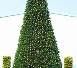 Giant Pre-Lit Everest Fir Commercial Christmas Tree with Warm White LED Lights, 20'