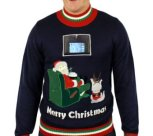 Lazy Santa Sweater with Phone Pouch