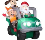 Inflatable 6' Santa in ATV with ELF by Airblown Inflatable
