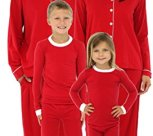 Family Matching Holiday Red Stretch Pajamas PJs Sets for Family