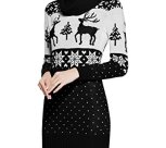 Knit Deer Xmas Jumper Dress