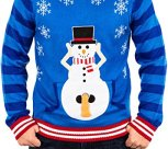 Excited Snowman Naughty Christmas Sweater