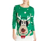 Goofy Reindeer Ugly Christmas Sweater Tunic