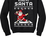 Kung Fu Santa Ugly Christmas Sweater