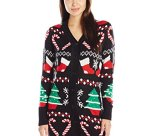 Christmas Spirit Button up Ugly Christmas Sweater Tunic