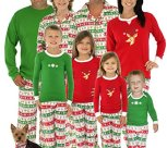 Family Matching Christmas Reindeer Pajamas PJs Sets for Family