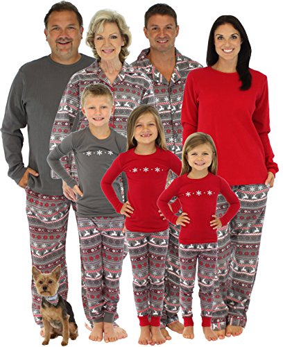 Family Matching Christmas Nordic Pajamas PJs Sets for the Family ...