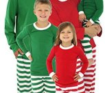 Family Matching Holiday Striped Knit Pajamas PJs Sets for Family