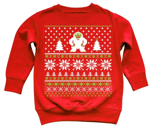The Yeti – Ugly Christmas Sweater Style Toddler Sweatshirt | Ugly ...