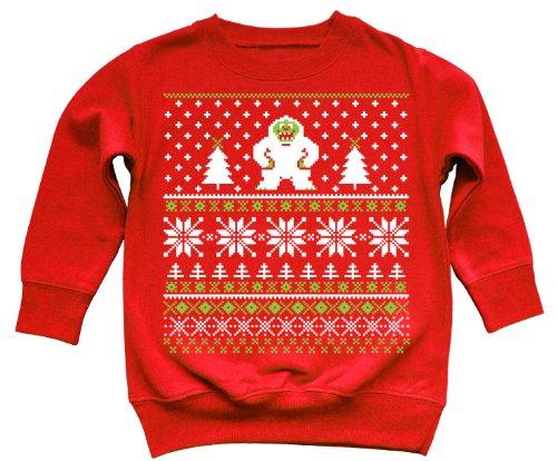 The Yeti – Ugly Christmas Sweater Style Toddler Sweatshirt   Ugly ...