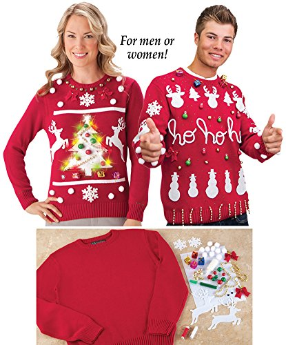 Do it yourself ugly christmas sweater kit ugly sweaters solutioingenieria Gallery