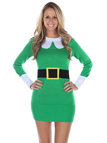 Elf Sweater Dress In Green