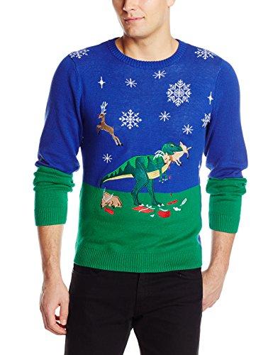 Dinosaur Reindeer Buffet Ugly Christmas Sweater | Ugly-Sweaters.com