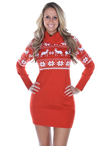 Fair Isle Christmas Sweater Dress | Ugly-Sweaters.com