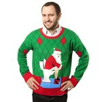 toilet santa ugly christmas sweater - Inappropriate Christmas Sweaters