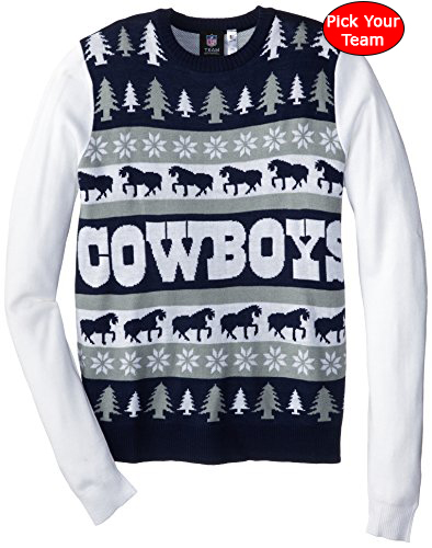 nfl ugly christmas sweater pick your team