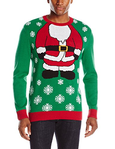 Men's Santa Body Ugly Christmas Sweater with Lights | Ugly ...