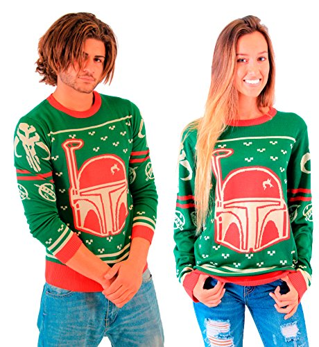 Boba Fett Christmas Sweater.Star Wars Ugly Christmas Sweaters