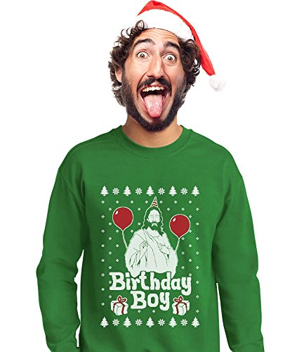 Jesus Birthday Boy Ugly Christmas Sweatshirt – Green | Ugly ...
