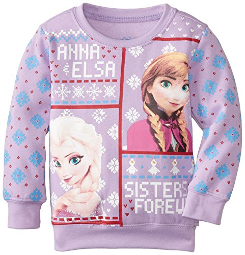 disney frozen anna and elsa sisters forever christmas sweater for girls - Girls Christmas Sweater