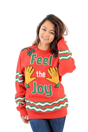 groping hands feel the joy ugly christmas sweater - Dirty Christmas Sweaters