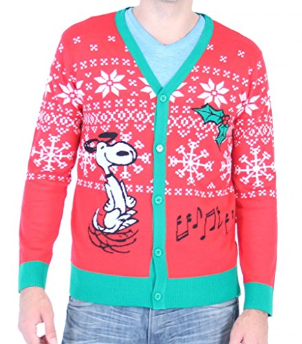 Snoopy Ugly Christmas Sweater Cardigan – Unisex | Ugly-Sweaters.com