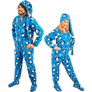 525fde13f0 Penguin Footed Onesie Pajamas for Adults with Drop Seat (Butt Flap) and  Long Night Cap